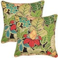 Hokena Jet 17-inch Throw Pillows (Set of 2)