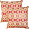 Hour Glass Blossom 17-inch Throw Pillows (Set of 2)