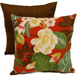 Ibiza Isla Crimson 17-inch Throw Pillows (Set of 2)