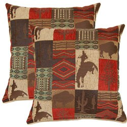 Laramie Redrock 17-inch Throw Pillows (Set of 2)