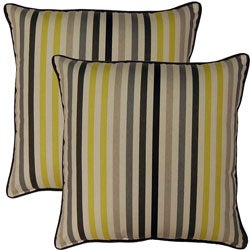 Line Up Domino 17-inch Throw Pillows (Set of 2)