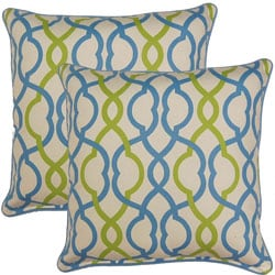 Make Waves Bluebell 17-inch Throw Pillows (Set of 2)