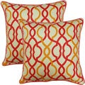 Make Waves Sorbet 17-inch Throw Pillows (Set of 2)