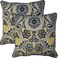 Paisley Prism Domino 17-inch Throw Pillows (Set of 2)