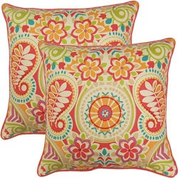 Paisley Prism Sorbet 17-inch Throw Pillows (Set of 2)