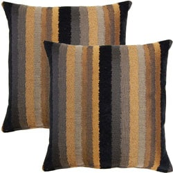 Rapunzle Black 17-inch Throw Pillows (Set of 2)
