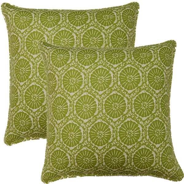 Seabreeze Green 17-inch Throw Pillows (Set of 2)