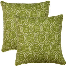 Seabreeze Green 17-inch Throw Pillows (Set of 2)