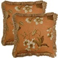 Sunroom Spice 17-inch Throw Pillows (Set of 2)