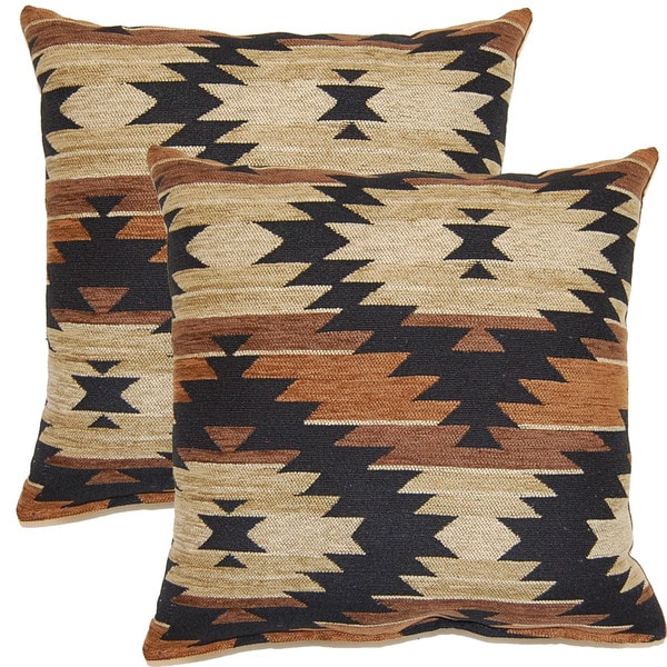 Tahoe Brown 17-inch Throw Pillows (Set of 2)