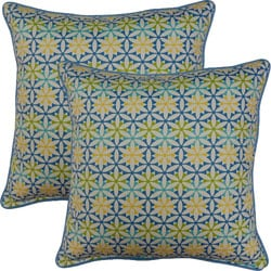 View Finder Bluebell 17-inch Throw Pillows (Set of 2)