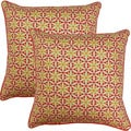 View Finder Sorbet 17-inch Throw Pillows (Set of 2)
