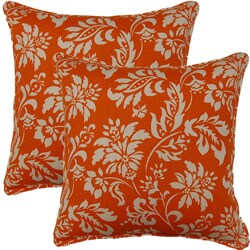 Wexford Tangerine 17-inch Throw Pillows (Set of 2)
