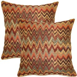 Zig Zag Harvest 17-inch Throw Pillows (Set of 2)
