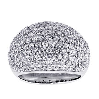 14k/ 18k Gold or Platinum 5ct TDW Diamond Pave Dome Ring (F-G, SI1-SI2)