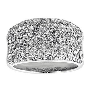 14k/18k Gold or Platinum 2.5ct TDW Pave Diamond Ring (F-G, SI1-SI2)