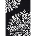 ZnZ Rugs Gallery Hand Made Off White New Zealand Blended Wool Rug (5' x 8')