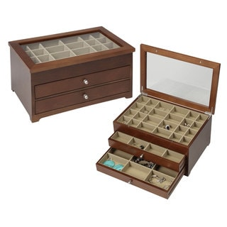 Seya Walnut Wooden Earring Jewelry Box
