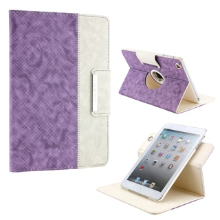 Gearonic 360 Rotating PU Leather Case Smart Cover for iPad Mini iPad Mini 2 Retina Display