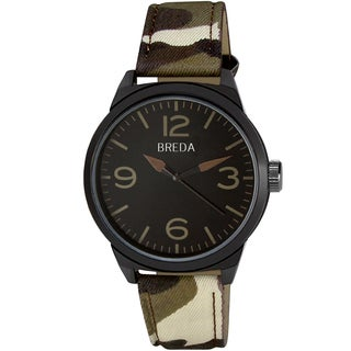 Breda Men's 'Stephen' Brown Camo Band Watch