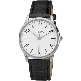 Breda Men's 'Andrew' Classic White/ Black Watch