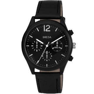 Breda Men's 'James' Black Band Watch
