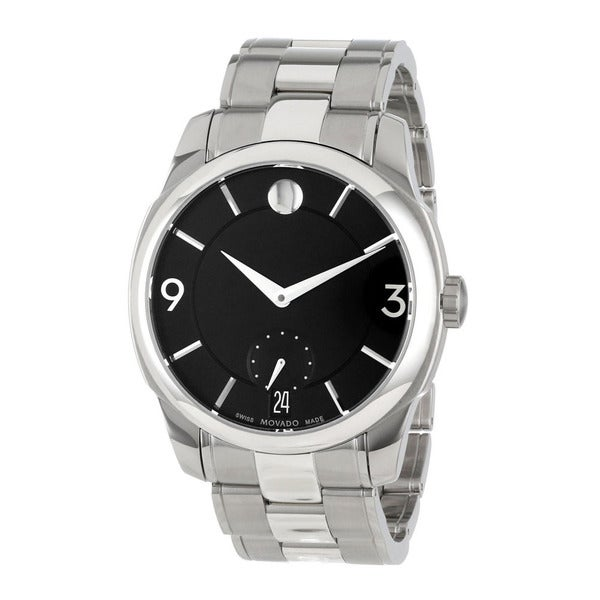 Movado Mens Black Dial Swiss Quartz Watch