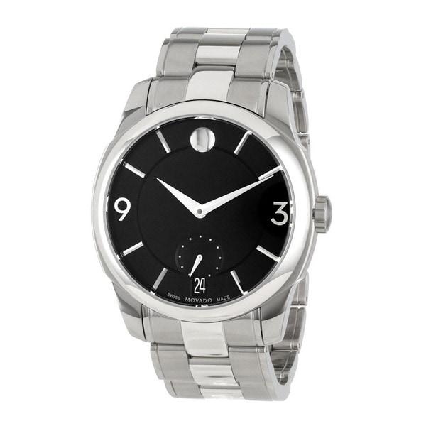 Movado Mens Black Dial Swiss Quartz Watch