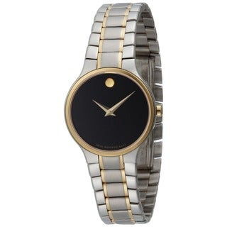 Movado Men's Serio Collection Black Dial Swiss Quartz Watch