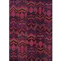 Vibrant Tribal Blue/ Pink Polypropylene Rug (9'9 x 12'2)