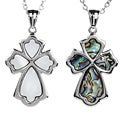 ELYA Stainless Steel Shell Cross Pendant