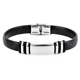 Stainless Steel ID Rubber Bracelet