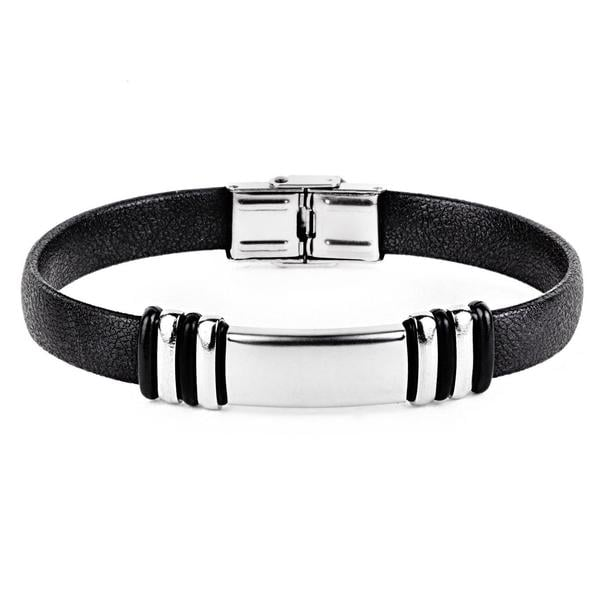 Crucible Stainless Steel ID Rubber Bracelet 11620106