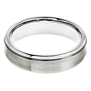 Titanium Brushed/ Grooved Comfort Fit Ring