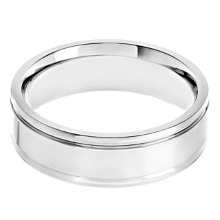 Titanium High Polish Grooved Band Ring