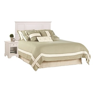 Naples White King Headboard and Night Stand