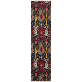 Kaleidoscope Grey and Multicolored Area Rug (2'7 x 10')