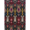 Kaleidoscope Grey and Multicolored Abstract Area Rug (4' x 5'9)