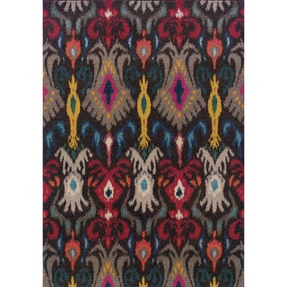 Vibrant Boheiman Grey/ Multi Abstract Area Rug (4' x 5'9)