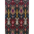 Kaleidoscope Gray/ Multi Polypropylene Area Rug (5'3x7'6)
