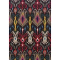 "Kaleidoscope Grey/ Multi Polypropylene Rug (5'3""x7'6"")"