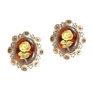 Michael Valitutti Two-tone Amber and Mocha Zircon Earrings