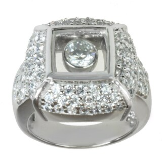 Michael Valitutti Signity Sterling Silver Cubic Zirconia Ring
