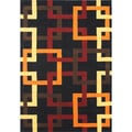 ZnZ Rug Gallery Durable Handmade Black New Zealand Wool Blend Area Rug (5' x 8')