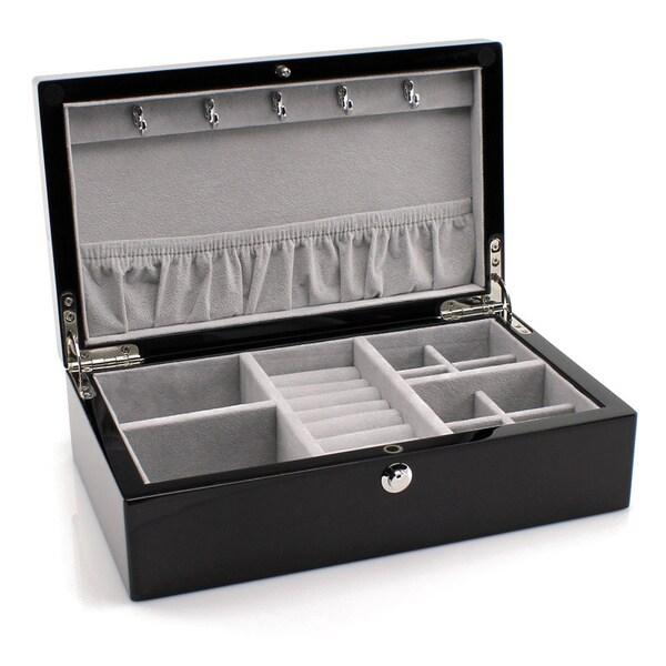 Heiden Isabella Espresso Compact Jewelry Box