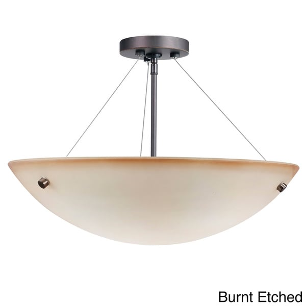 Dish 3-light Metallic Bronze Semi Flush Mount