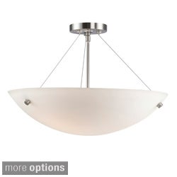 Dish 3-light Satin Nickel Semi Flush Mount