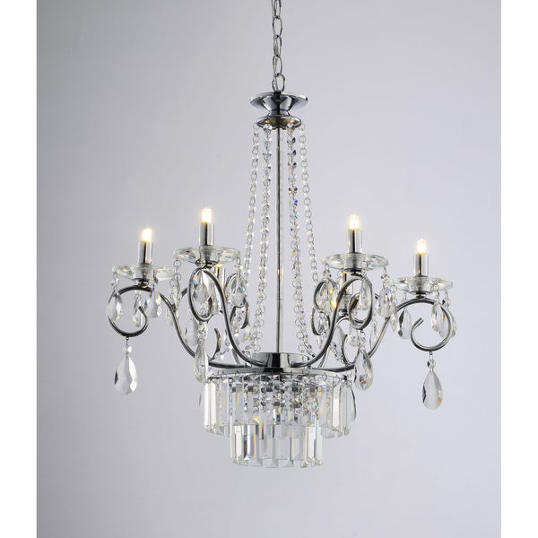 Crystal Chandelier Youtube: Vanessa 6 Light Crystal Chandelier In Chrome
