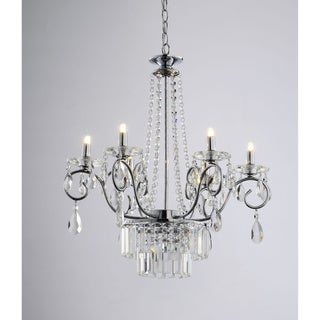 Vanessa 6 Light Crystal Chandelier in Chrome