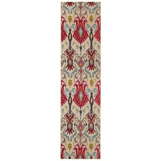 Kaleidoscope Ivory and Red Area Rug (2'7 X 10')
